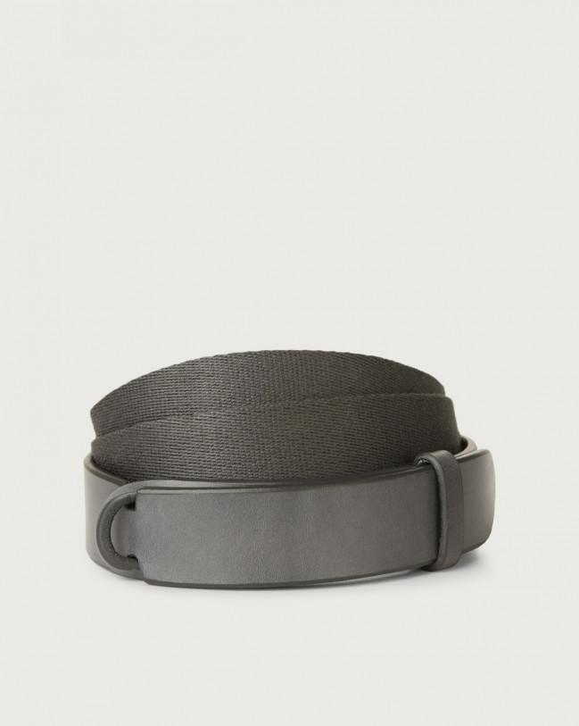 Orciani Cintura Nobuckle Bull in cuoio e tessuto Pelle e tessuto LONDRA