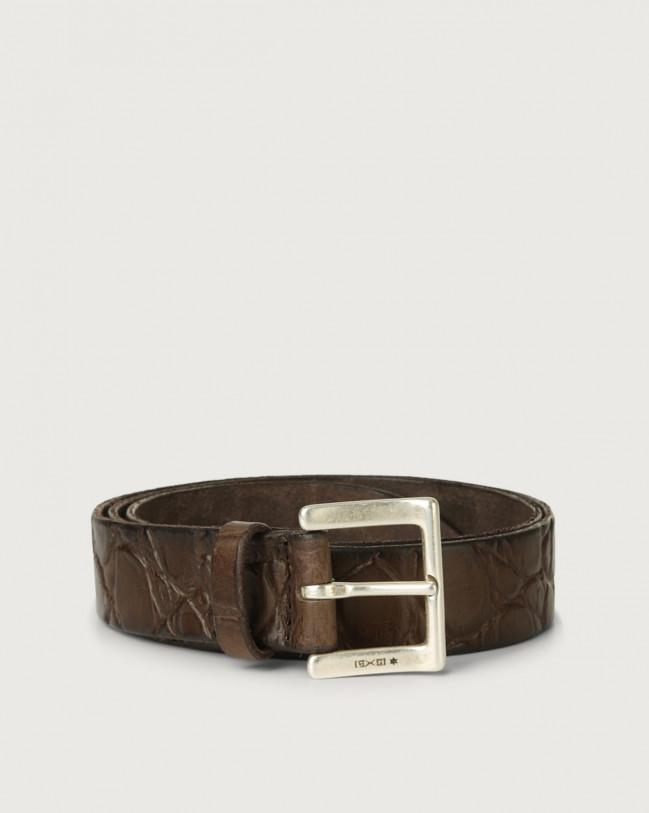 Orciani Cintura Sauro in pelle stampa cocco Pelle stampata T.MORO