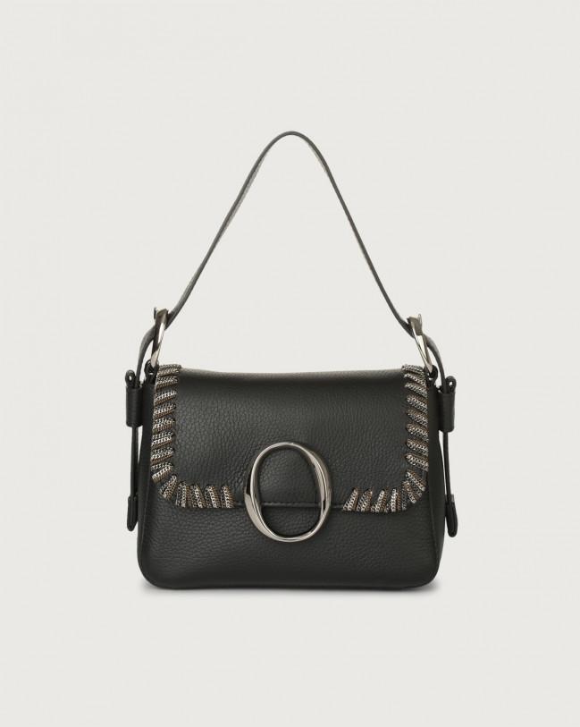 Orciani Mini bag Soho Chain in pelle con tracolla Pelle NERO