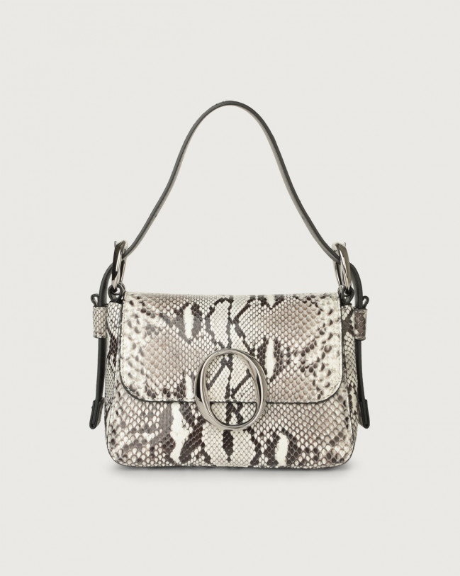 Orciani Mini bag Soho Diamond in pelle con tracolla Pitone ROCCIA