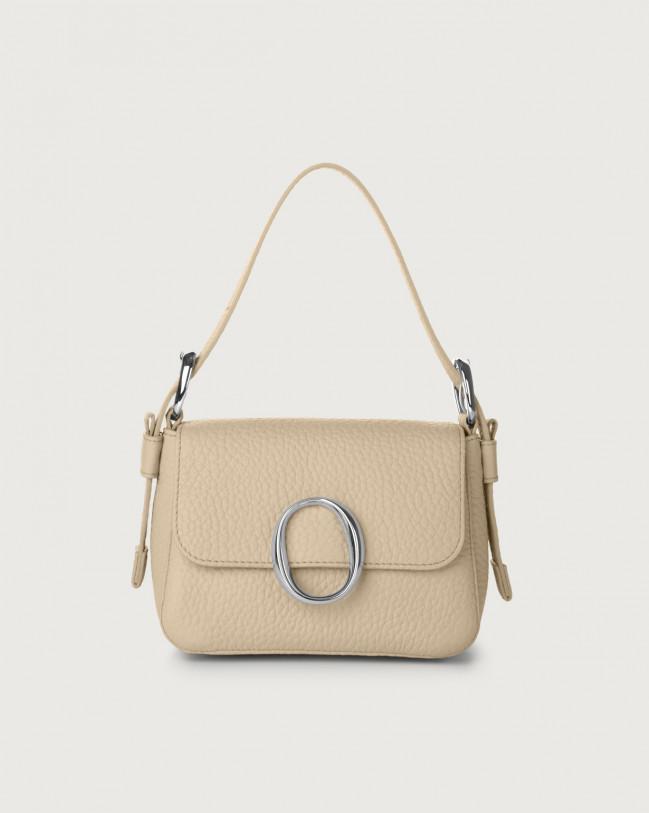 Orciani Mini bag Soho Soft in pelle con tracolla Pelle CONCHIGLIA