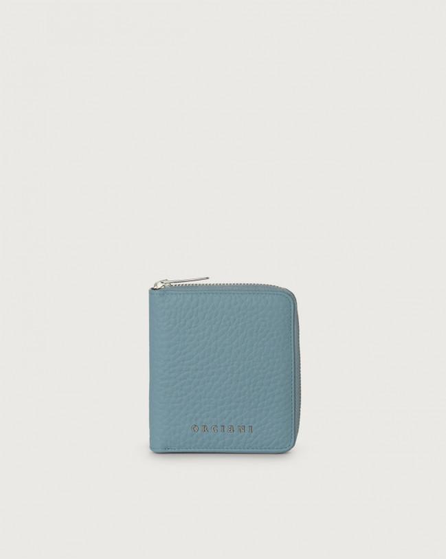 Orciani Portafoglio piccolo Soft in pelle con zip e RFID Pelle ORTENSIA