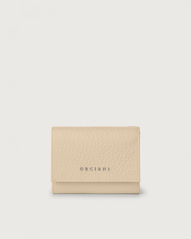 Orciani Portafoglio a busta piccolo Soft in pelle con RFID Pelle CONCHIGLIA