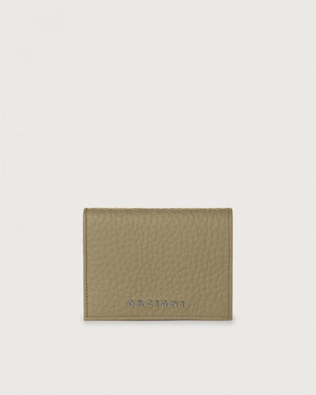 Orciani Portafoglio piccolo Soft in pelle con RFID Pelle KAKI