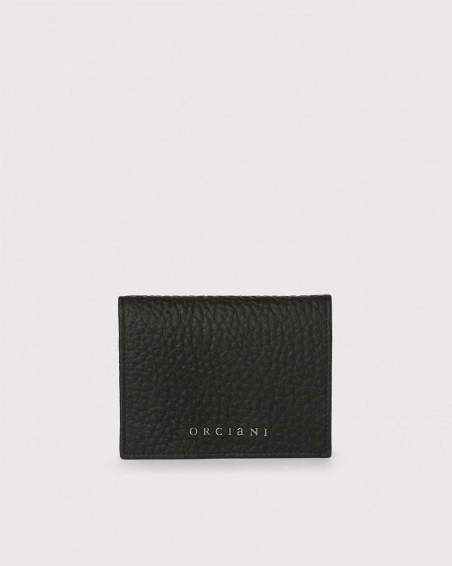 Orciani Portafoglio piccolo Soft in pelle con RFID Pelle NERO