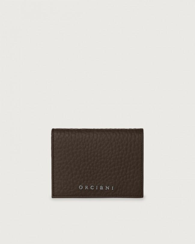 Orciani Portafoglio piccolo Soft in pelle con RFID Pelle T. MORO