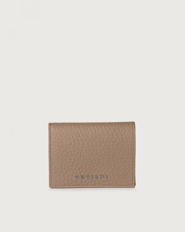 Orciani Portafoglio piccolo Soft in pelle con RFID Pelle TORTORA