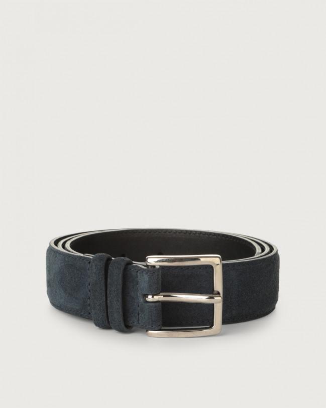 Orciani Cintura Amalfi in suede Camoscio NOTTE