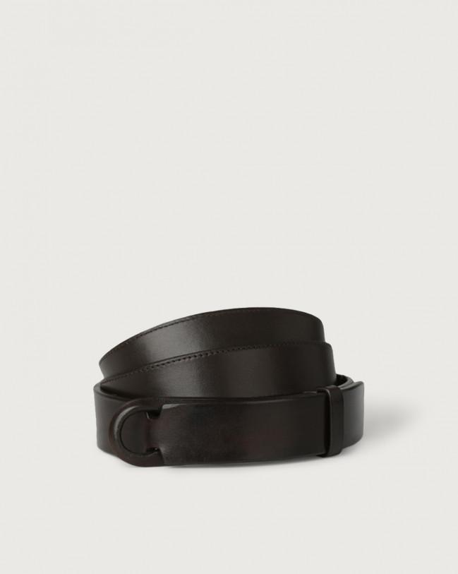 Orciani Cintura Nobuckle Bull in cuoio Pelle T.MORO