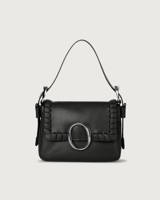 Orciani Mini bag Soho Liberty in pelle con tracolla Pelle NERO