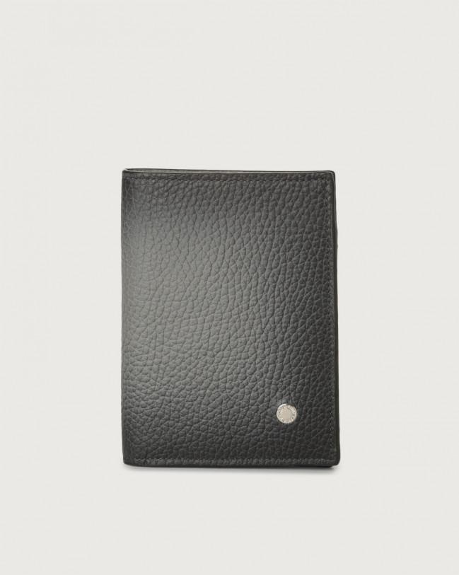 Orciani Portafoglio Micron Deep in pelle con portamonete e RFID Pelle SIGARO