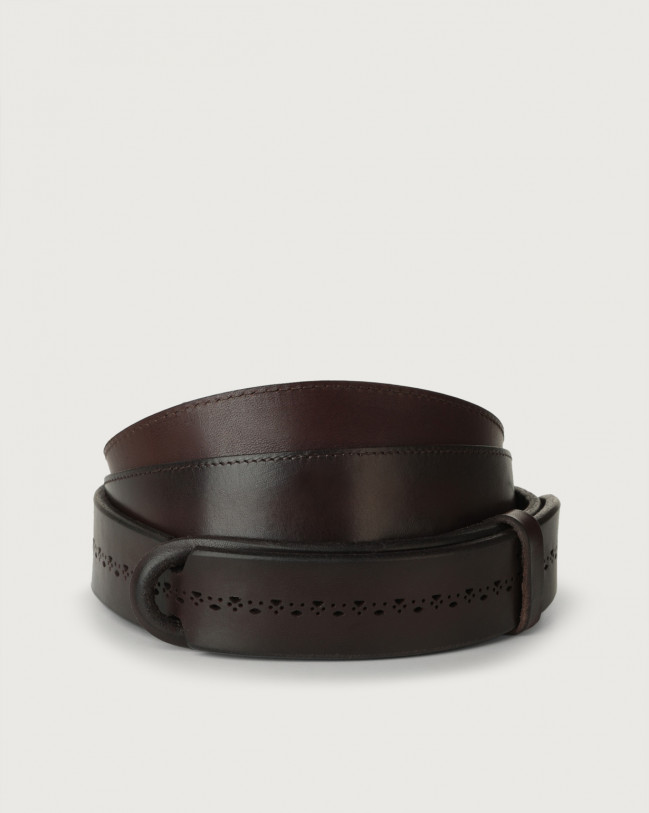 Orciani Cintura Nobuckle Bull Soft in cuoio Pelle T.MORO