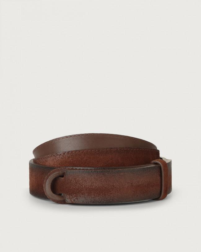 Orciani Cintura Nobuckle Cloudy in suede Camoscio, Pelle BRUCIATO