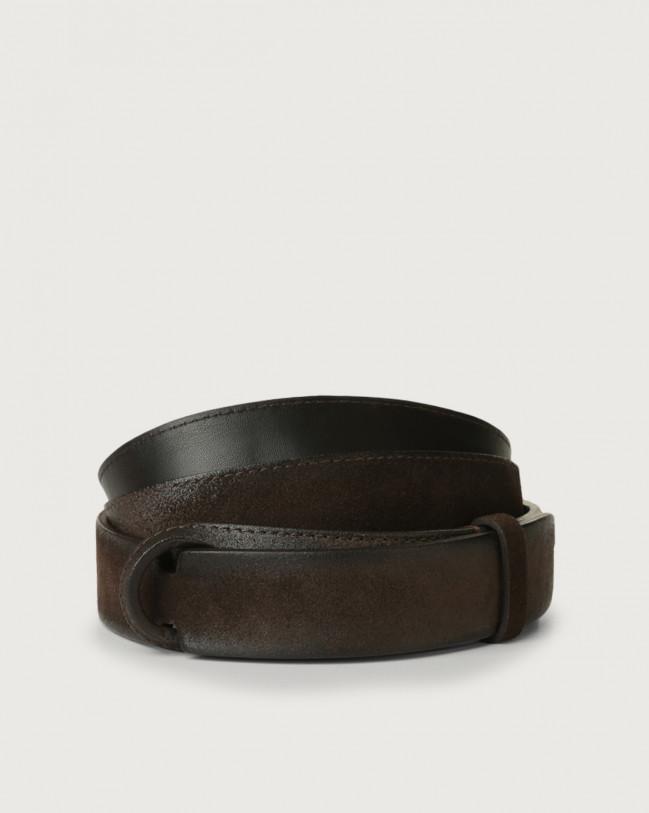 Orciani Cintura Nobuckle Cloudy in suede Camoscio, Pelle T.MORO
