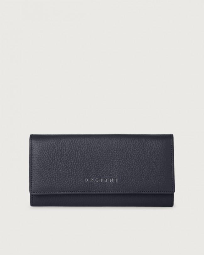 Orciani Portafoglio a busta Micron in pelle con RFID Pelle NAVY