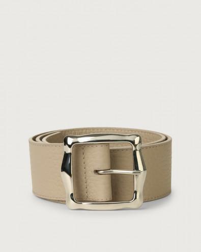 Cintura alta Soft in pelle 5 cm