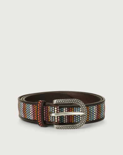 Cintura Rainbow in pelle