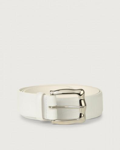 Cintura Kindu in pelle stampa cocco 3,5 cm