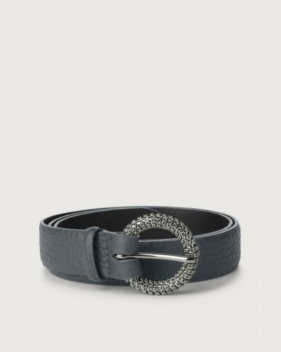 Cintura Soft in pelle fibbia chain