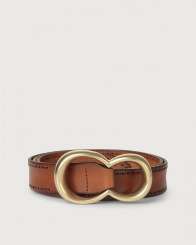 Cintura Bull Soft in cuoio con fibbia ottone