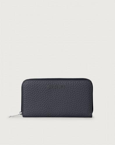 Portafoglio grande Soft in pelle con zip e RFID