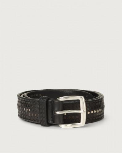 Cintura Bull Soft micro-borchie in cuoio