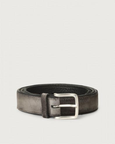Cintura Velvet in tessuto e pelle 3 cm