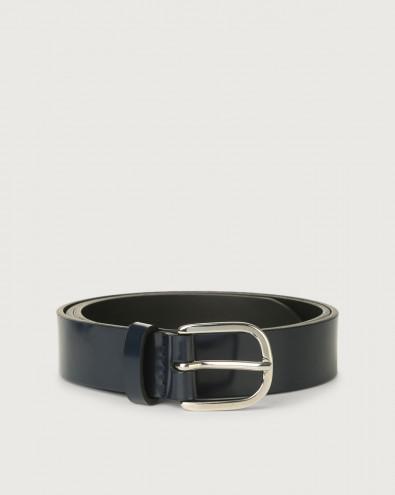 Cintura classica Bright in pelle lucida