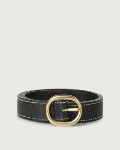 Cintura Fanty Color in pelle 3 cm
