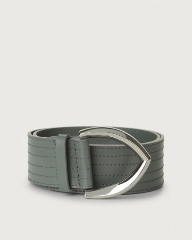 Cintura alta Liberty in pelle 5 cm