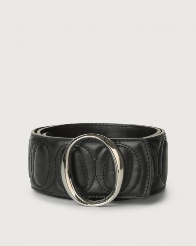 Cintura alta Matelassé in pelle