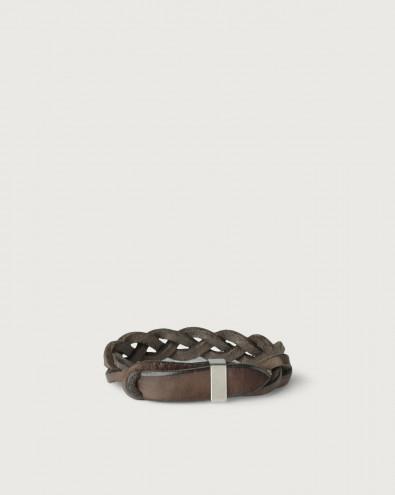 Bracciale Nobuckle Walk in cuoio con dettaglio argento