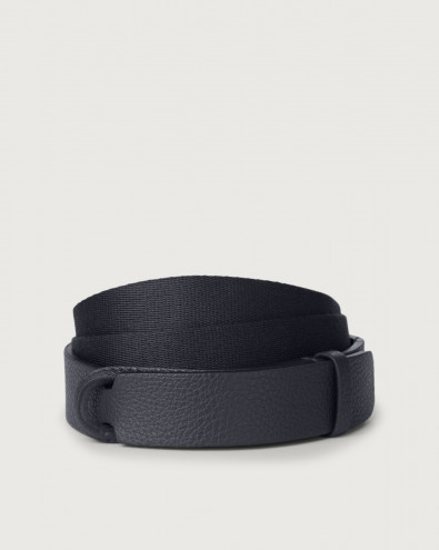 Cintura Nobuckle Micron in pelle e tessuto