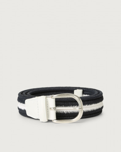 Cintura intrecciata Elast Duo in cotone elasticizzato