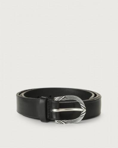 Cintura Bull Soft C in cuoio 3 cm