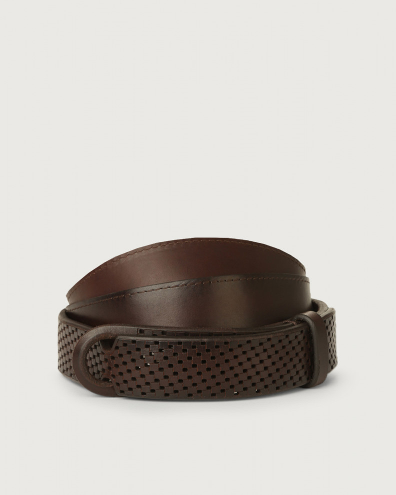 Cintura Nobuckle Bull Soft in cuoio