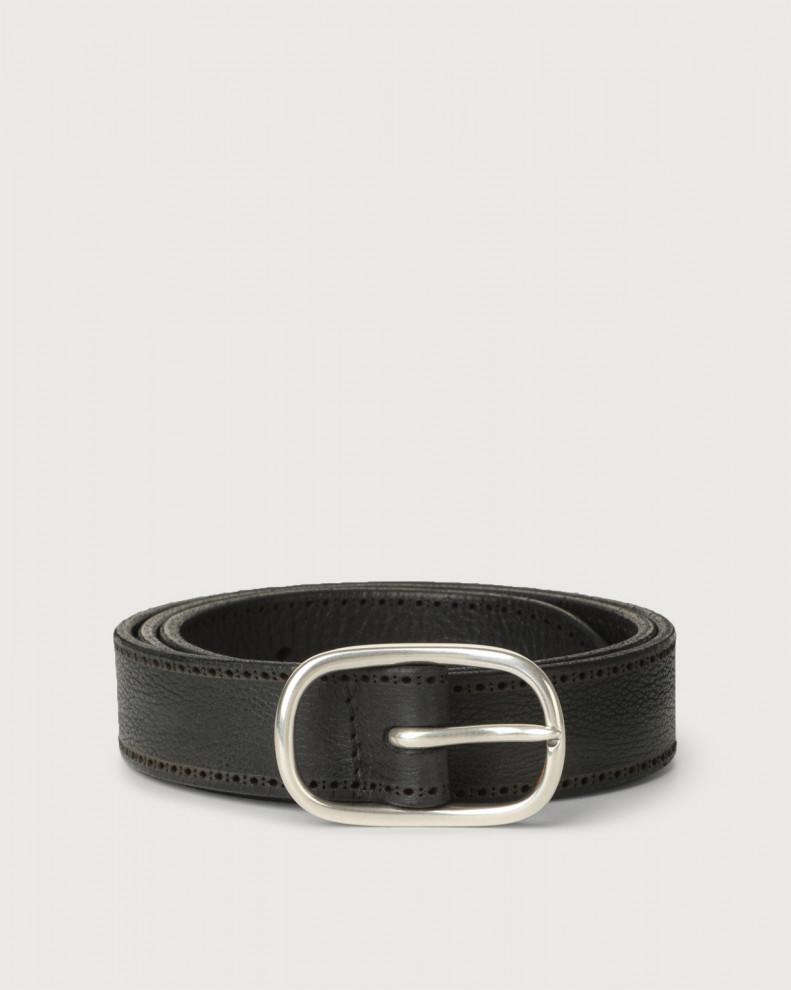 Cintura Chevrette in pelle nabuccata 3 cm