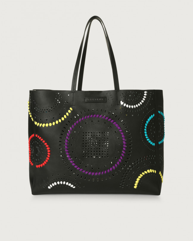 Orciani Le Sac Carioca leather tote bag Leather Black
