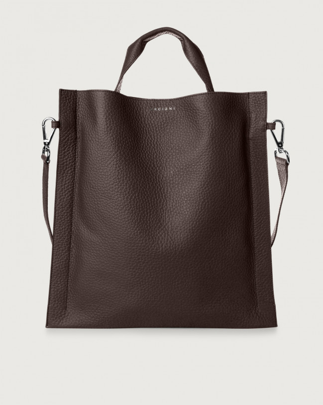 Orciani Iris Soft leather shoulder bag Leather Chocolate