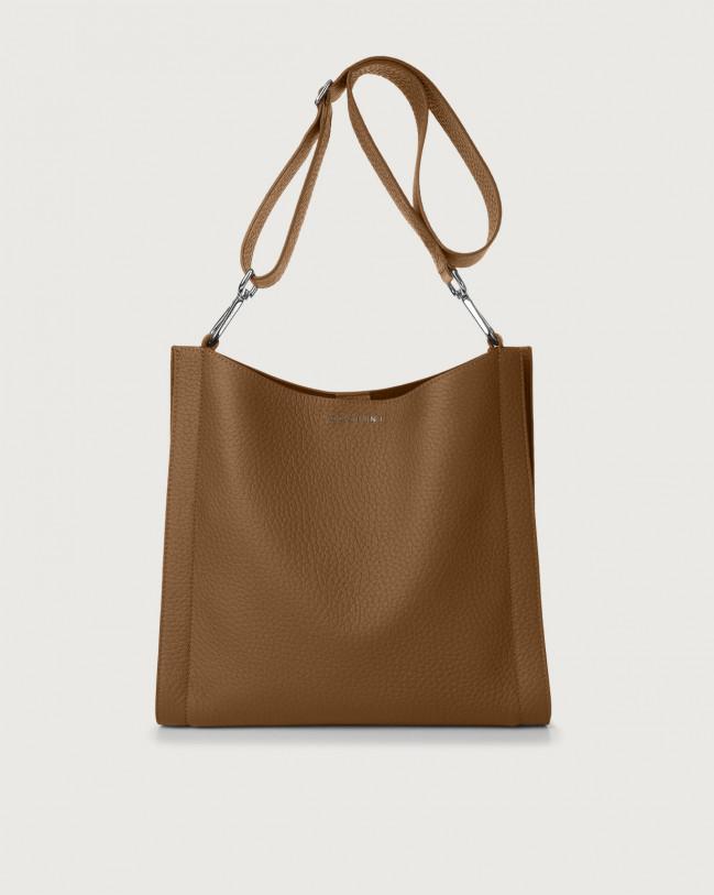 Orciani Iris Soft leather crossbody bag Leather Caramel