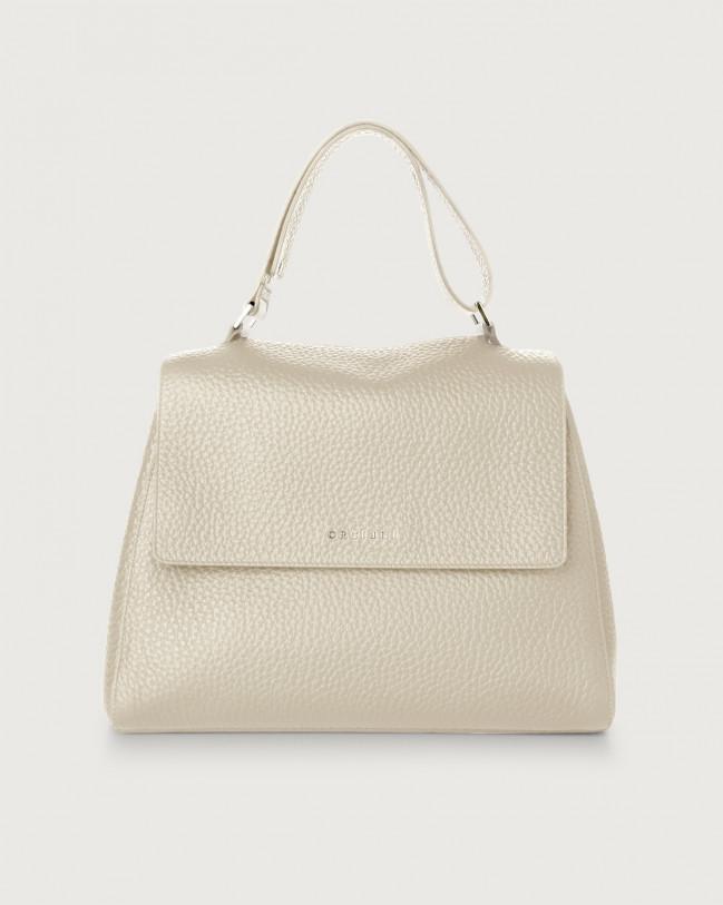Orciani Sveva Soft medium leather shoulder bag Leather Ivory