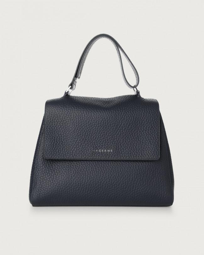 Orciani Sveva Soft medium leather shoulder bag Leather Navy