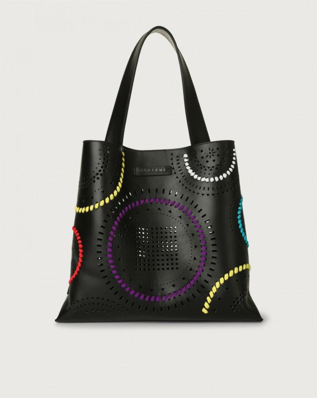 Orciani Jackie Carioca leather shoulder bag Leather Black