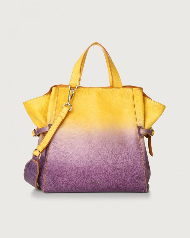 Orciani Fan Vanish medium leather handbag Leather Iris Blue