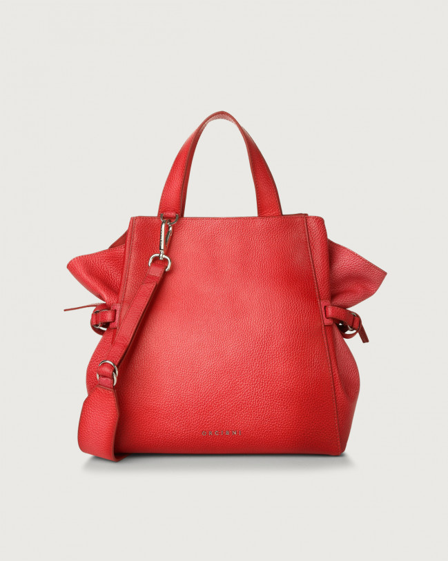 Orciani Fan Vanish One medium leather handbag Leather Red