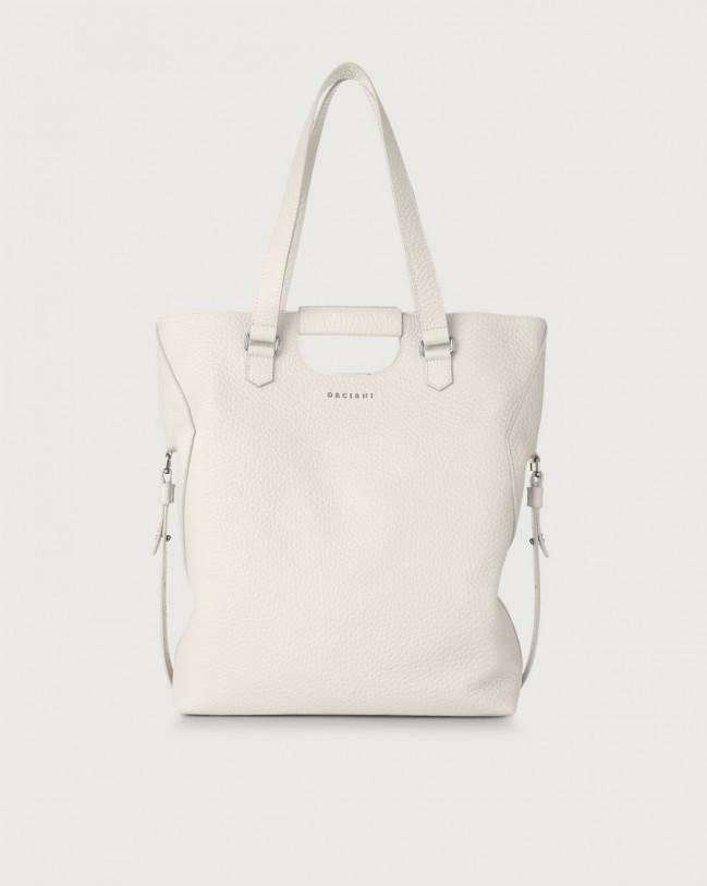 Orciani Isotta Soft large leather shoulder bag Leather White