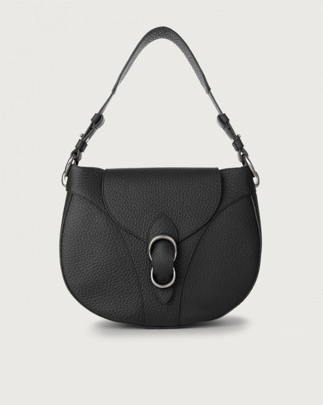 Orciani Beth Soft leather shoulder bag Leather Black