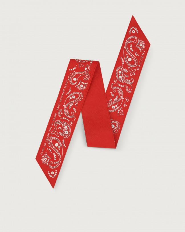 Orciani Bandanas leather foulard Leather Red