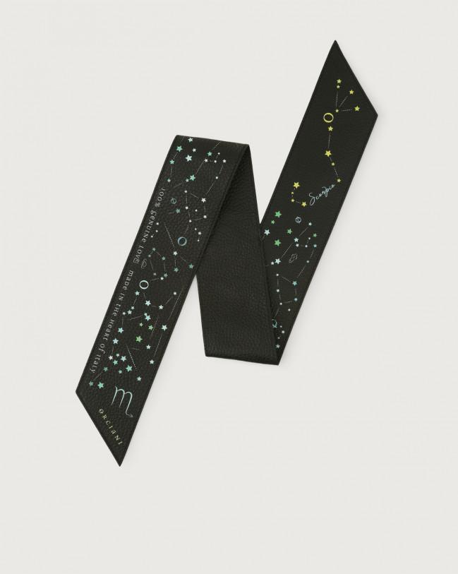 Orciani CosmoLova leather foulard Leather Scorpio