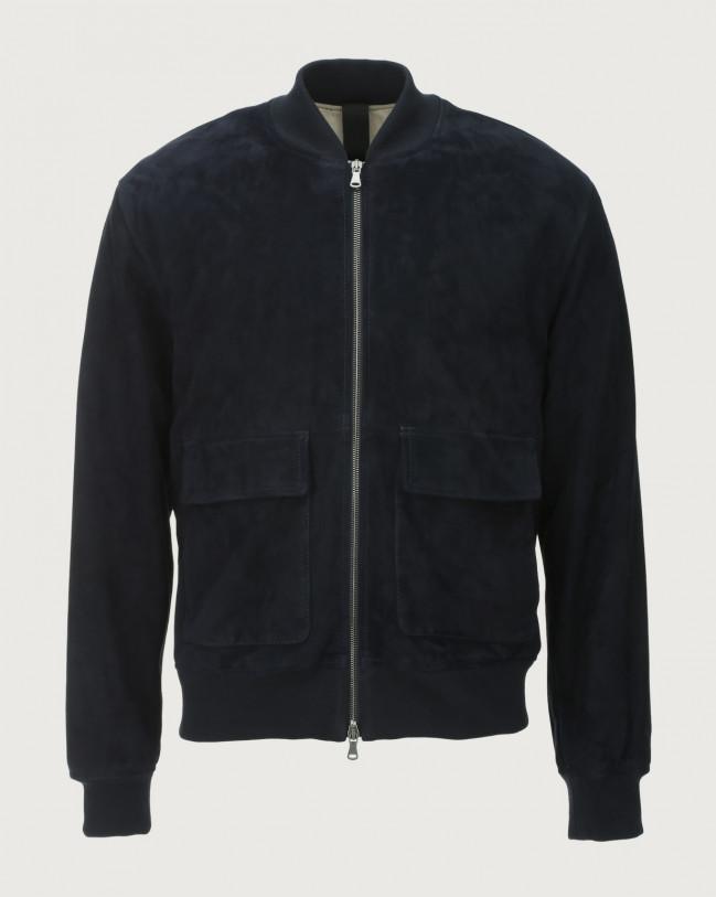 Orciani Camoscio suede bomber jacket Suede Blue